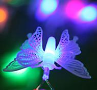10m 100 Mariposas 100 tira del LED Luces de Navidad Festival de la lámpara