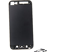 Black Metal Alloy Back Battery Housing with Buttons For iPhone 5