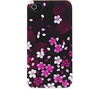Peach Blossom Fall in Dark Pattern Matte Designed PC Hard Case for iPhone 4/4S