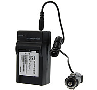 ismartdigi 680mAh Camera Battery+Car Charger for Canon IXUS125 240 245HS A2300 A2400 A340