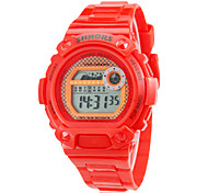Children's Multi-Function LCD Digital Colorful Rubber Band Running Hiking Fitness Wrist Watch (Assorted Colors)