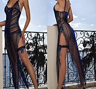 G Mundo 3pc Sexy Bachelorette vestido. Noite das mulheres azuis Lingerie sexy uniforme