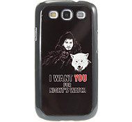 I_WANT_YOU Pattern Aluminum&Plastic Hard Back Case Cover for Samsung Galaxy S3 I9300