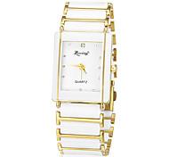 Men's Simple Rectangle Dial Alloy Band Quartz Analog Wrist Watch Cool Watch Unique Watch