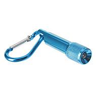 Single-Mode Mini-LED-Taschenlampe Schlüsselbund (4xButton Batterien, Blau)
