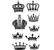 5 Stück Krone Wasserdicht Tattoo (10,5 cm * 20,5 cm) HM553