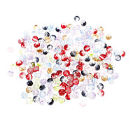 Fashion Round Multicolor Acrylics DIY Beads(200 pcs)