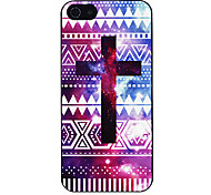 Colorful Cross Pattern Hard Case per iPhone 5/5S alluminosi