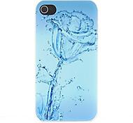 Eau de Rose Motif mat Conçu Hard Case PC pour l'iPhone 4/4S