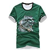Moda Masculina Lazer Cotton T-Shirt T