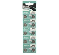 10 x LR43 1.5V Watch Lithium Button Cell Battery