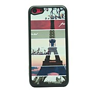 Stripe Tower Drawing Pattern Hard Case for iPhone 5C