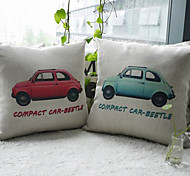 Conjunto de 2 Covers Red and Blue Beetle Car Almofada decorativa