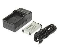 ismartdigi 1950mAh Camera Battery+Car Charger for CASIO EX-H10 H15 H20G