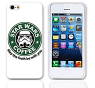 Forth Be with You Design Hard Case with 3-Pack Screen Protectors for iPhone 5/5S