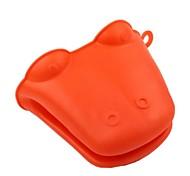 Red Heatproof Silicone Pan Holder Glove