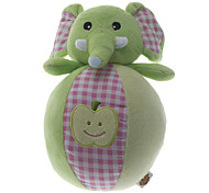 Lovely Apple Pattern Elephant Doll Toy with Bells for Pets Dogs