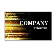 200pcs Personalized 2 Sides Printed Matte Film Fringe Pattern Business Card