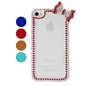 Bow-Kettenrahmen mit Strass-Muster Kunststoff Hard Case für iPhone 4/4S