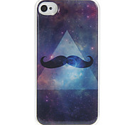 Patrón Estrellas Barba estuche rígido de epoxy para el iPhone 4/4S