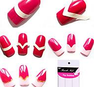 96pcs padrões mistos franceses Guias Manicure Dica