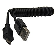 Helical coiled USB2.0 A Male to Micro USB Cable for Samsung Mobile Phone Charging Data cable