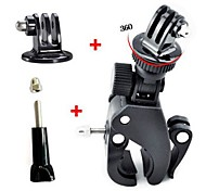 Fast Clip Release Bike Handbar Mount Dia 17-35MM Bar + Tripod Mount Adapter + Long Screw with Cap for GoPro HERO