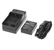 ismartdigi 950mAh batería de la cámara + cargador de coche para Fuji X-Pro1 XPro1 XE1 X-E1 HS30 HS33 EXR