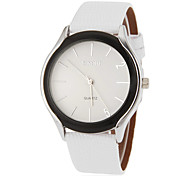 Women's Simple Round Dial Pu Band Quartz Analog Wrist Watch