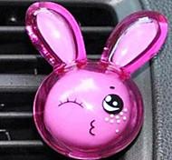 Lindo conejo Air Vent Aire Freshner Perfume Difusor