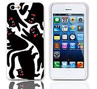 Cartoon Cat modello Hard Case con 3 Paia protezioni per iPhone 5/5S