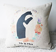 Comic MR.and Mrs.Anteater's Happy Life Decorative Pillow Cover