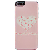 Eine Welt voller Blumen Muster Epoxy Hard Case für iPhone 5/5S