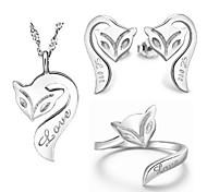лиса Ilver Ilver покрытием (ожерелье и серьги и кольцо) свадебные украшения и др