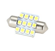 Festoon Car White 3W SMD 3528 4000-4500 Instrument Light Reading Light License Plate Light Turn Signal Light Brake Light Reversing lamp