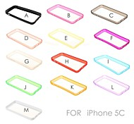 Solid Color TPU Soft Bumper Frame for iPhone 5C