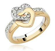 Fashion Unisex  Alloy Couple Rings(Gold-Silver)(2 Pcs)