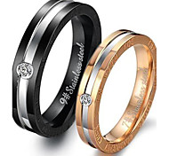 Classic Lovers Stainless Steel Personality Couple Rings (2 Pcs)