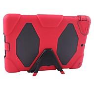 Silicone e caixa de plástico de proteção de corpo inteiro com Kick Stand para iPad 2/3/4 (Assortec cores)