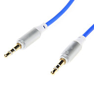 3.5mm Spring Line Audio Jack Connection Cable(Blue 0.2m)