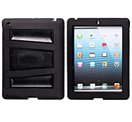 Protective TPU Back Case with Support for iPad 3