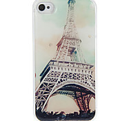 Eiffel Tower Pattern Epoxy Hard Case for iPhone 4/4S