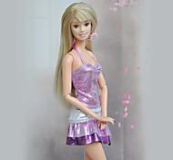 Barbie Doll Purple Paillette Fashion Dress