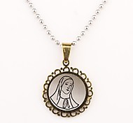 Personalized Gift  Gold Maria Pattern  Engraved Necklace