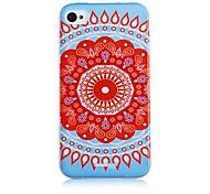 Azul e Branco Porcelana Padrão Soft Case de silicone para iPhone4/4S