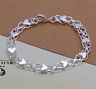 Fashion 20cm Women's Silver Plated Alloy Chain Bracelets(1pc)