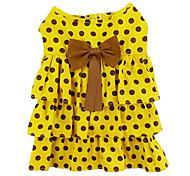 Punkte und bowknot Muster-Kleid für Haustiere Hunde (versch. Farben, Größen)