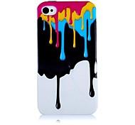 Patrón de helado del derretimiento del caso de silicona suave para iPhone4/4S