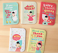 Lovely Cartoon Girl With Kerchief Credit Card Case(Random Color)