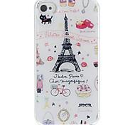 Esquema de la Vida Paris estuche rígido epóxico para el iPhone 4/4S